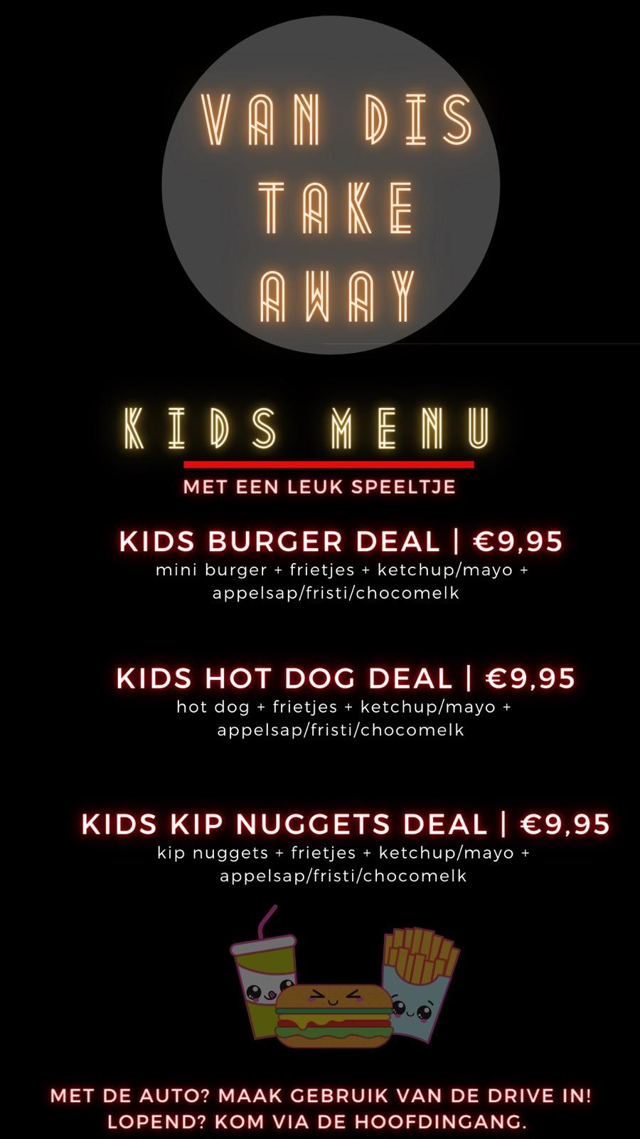 Kids menu van Van Dis